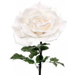 Giant Silk Roses White | VM Display Prop - R505 AA4