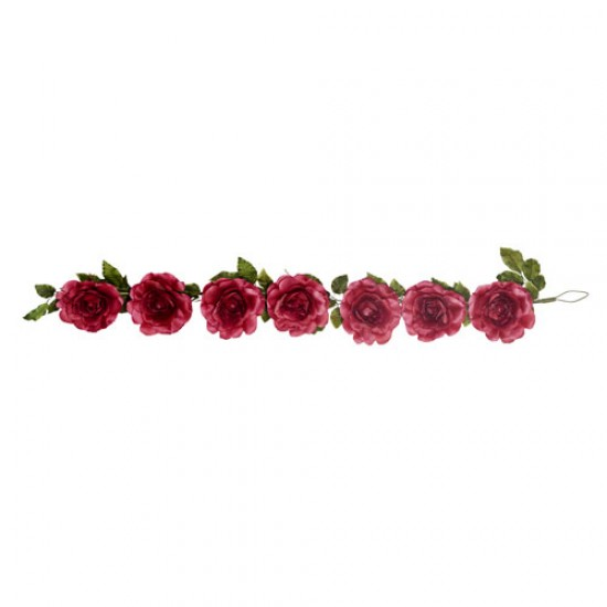 Giant Silk Roses Garland Burgundy 200cm | VM Display Prop - R964 BB4