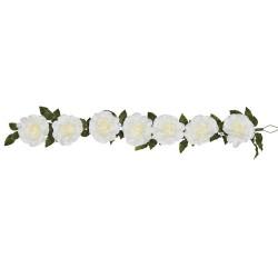 Giant Silk Roses Garland Cream 200cm | VM Display Prop - R961 BB4