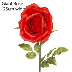 Giant Artificial Rose Red 25cm | VM Display Prop - R930