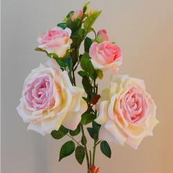 Large Artificial Roses Spray Pink Drop - R251 J1