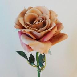 Large Velvet Rose Vintage Apricot - R498 O2