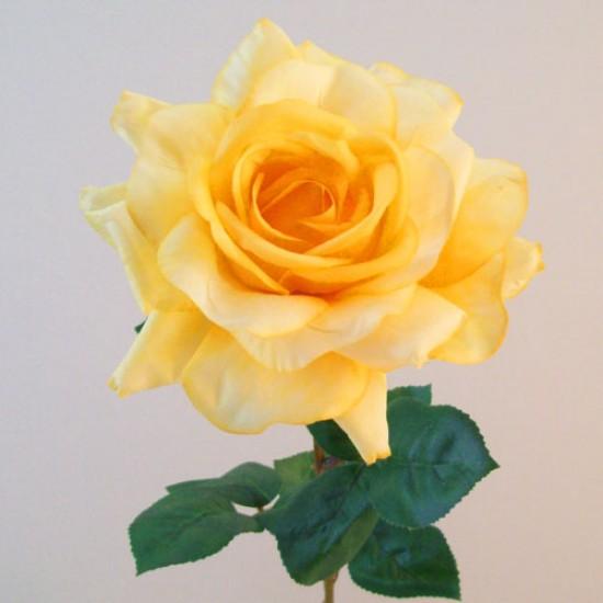 Artificial Tea Rose Yellow - R832 LL1