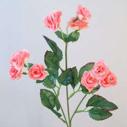 Mini Artificial Wild Roses Candy Pink - R551a KK2