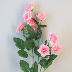 Mini Artificial Wild Roses Pink - R551 L2
