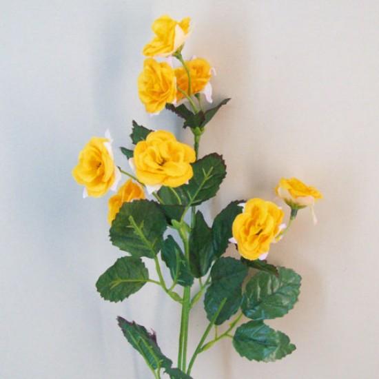 Mini Artificial Wild Roses Yellow - R554 L2