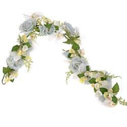 Pearl Wedding Artificial Flowers Garland Blue - PEA030 N4
