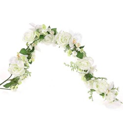 Pearl Wedding Artificial Flowers Garland Ivory - PEA032 N4