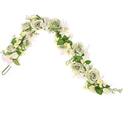Pearl Wedding Artificial Flowers Garland Sage Green - PEA031 N4
