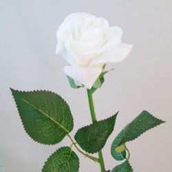 Artificial Roses Real Touch Cream - R090 P4