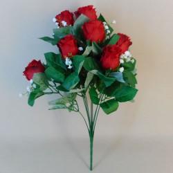 Artificial Rosebuds Bouquet Red x 10 - R091 BB3