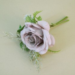 Romance Rose and Leaves Posy Lilac - R751 P4
