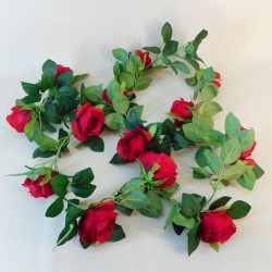 Artificial Roses Garland Red - R857 EE1
