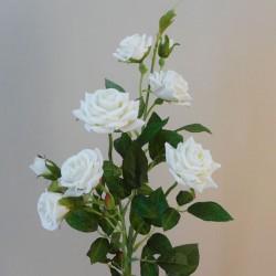 Artificial Flowers Rose Spray 'Virginia' Cream 84cm 9 Flowers - R044 R3