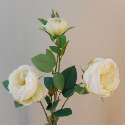 Rydal Artificial Cabbage Roses Spray Cream - R147 KK1