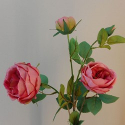 Rydal Artificial Cabbage Roses Spray Dusky Pink - R151 LL1