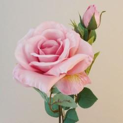 Rydal Artificial Rose Spray Light Pink - R109 FF4