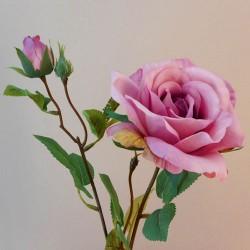 Rydal Artificial Rose Spray Mauve Pink - R113 FF4