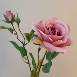 Rydal Artificial Rose Spray Pink - R108 FF4