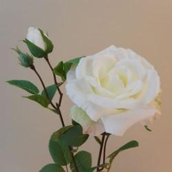 Rydal Artificial Rose Spray White - R114 FF4