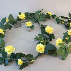 Artificial Roses Garland Yellow - R715 AA4
