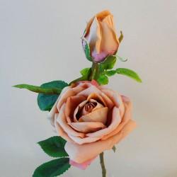 Velvet Rose Spray Vintage Apricot - R495 M2