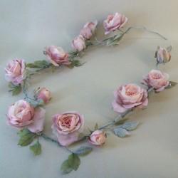 Vintage Artificial Rose Garland Pink - R616 P2