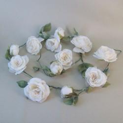 Vintage Artificial Rose Garland Cream - R879 N2