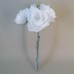 Vintage Artificial Roses Bouquet White - R886 S4