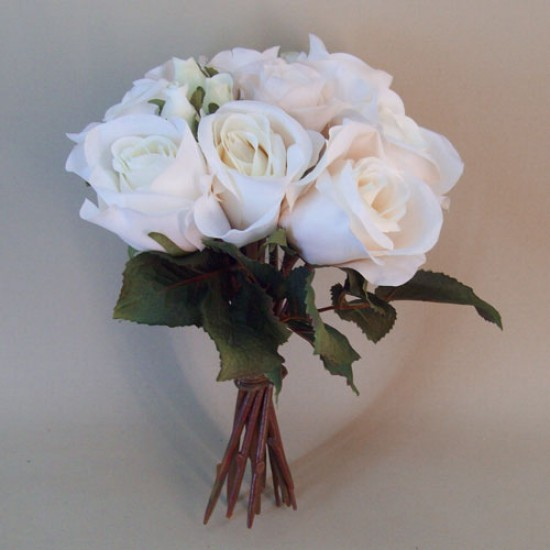 Vintage Silk Rose Bouquet Blush Peach - R707 L3
