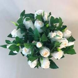 Artificial Rosebuds Bouquet Pale Peach x 21 28cm - R584 M1