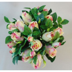 Artificial Rosebuds Bouquet Pale Pink x 26 28cm - R582 M1
