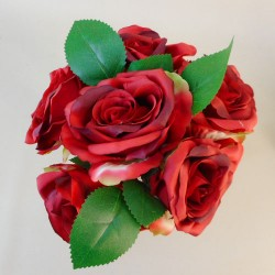 Artificial Tea Roses Bundle Red - R637 O4