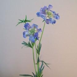 Premium Silk Scabious Flowers Blue | Artificial Scabiosa - S110 Q1