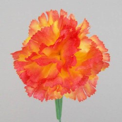 Silk Carnations Orange - C001c  A4