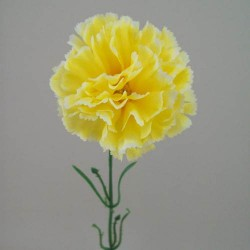 Silk Carnations Yellow - C001j A4