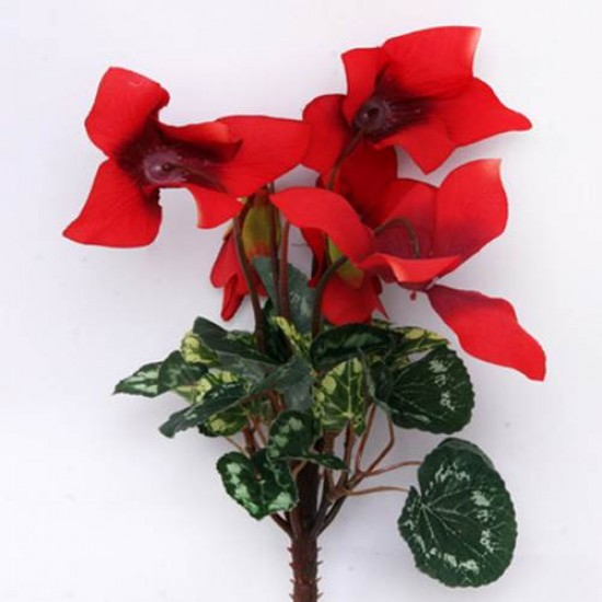 Silk Cyclamen Plants Red - C014c GG3