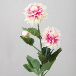 Silk Dahlia Flowers Pink Sorbet - D072 D4