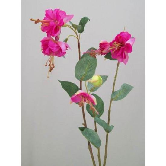 Silk Double Fuchsia Stem Pink - F025 D4