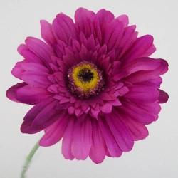 Silk Gerbera Dark Pink - G020a E2