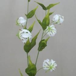 Silk Gloriosa Flame Lily White - G077 E3