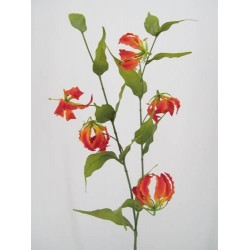 Silk Gloriosa Flame Lily Orange - G010c