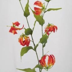 Silk Gloriosa Flame Lily Orange - G010c