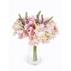 Silk Hydrangea and Parrot Tulip Posy - H002 H3