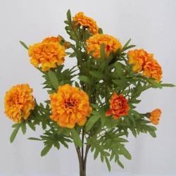 Silk Marigold Bush Orange - M018