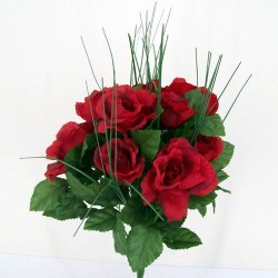 Artificial Roses Bush Red - R024 HH1