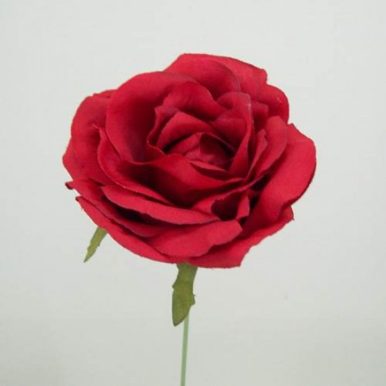 Silk Roses on Wire Stem Red - R036 L2