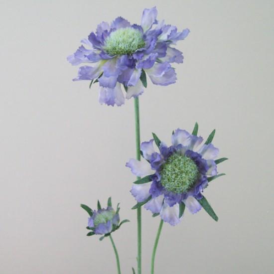Silk Scabious Flowers Blue | Artificial Scabiosa - S058