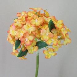 Silk Snowball Flowers Tangerine Summer - S051 Q2