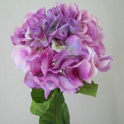 Silk Hydrangea Flowers Vintage Pink - H064 G4
